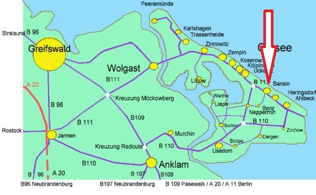 Insel Usedom Karte